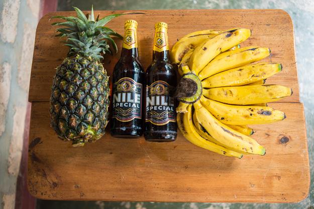 фрукти банани Африка ананаси