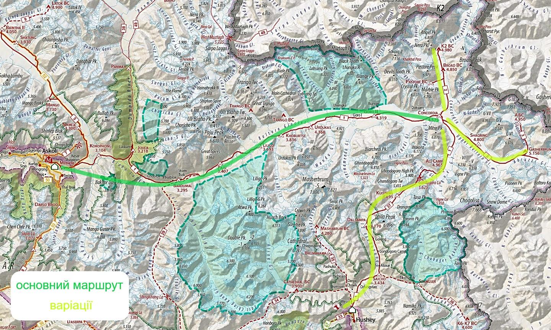 Каракорум карта