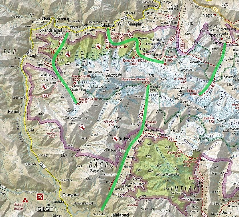 Діран Ракапоші Карта
