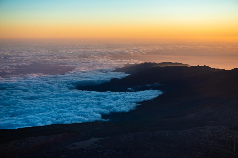 схід сонця над Атлантикою з вершини Тейде