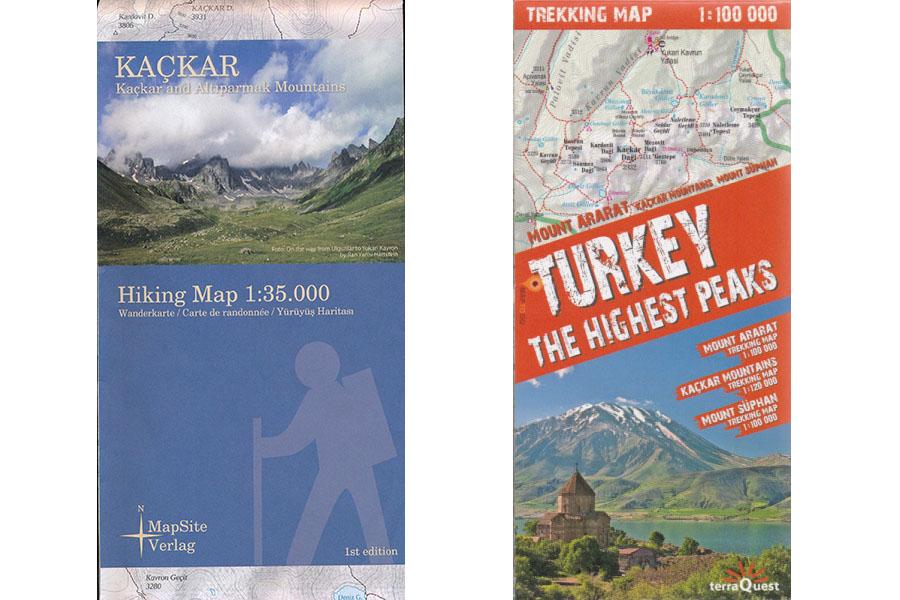 Качкар Понтійські гори карта
